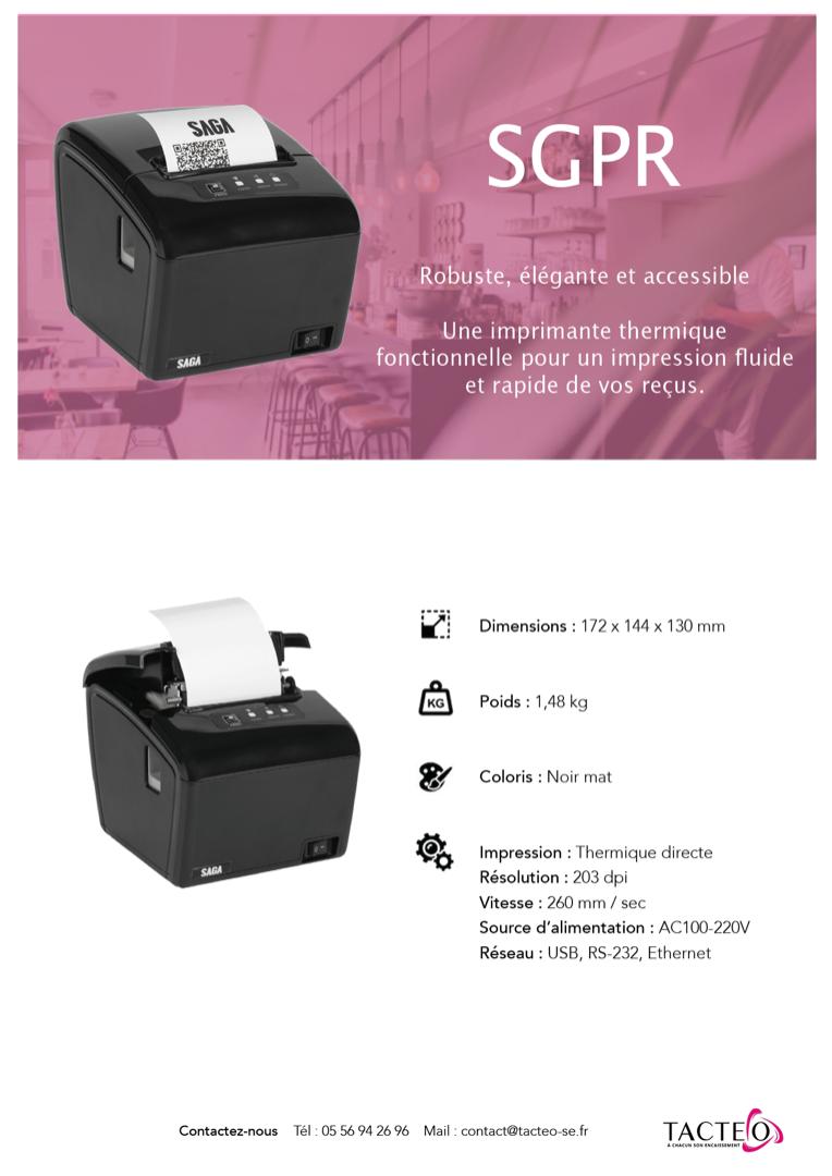 Fiche produit Imprimante SGPR